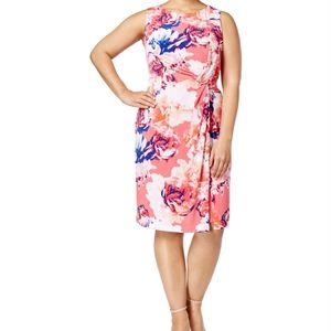 Calvin Klein twisted sheath dress 18W